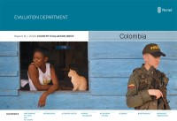 Forside for rapporten Country Evaluation Brief for Colombia