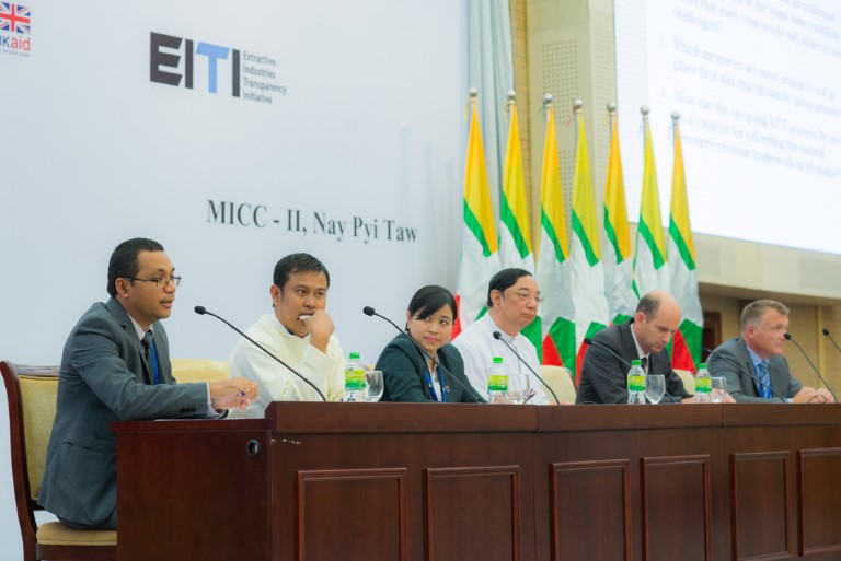 Panel on Natural Resource Funds at the MEITI conference in Myanmar in 2014