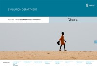 Forside for rapporten Country Evaluation Brief for Ghana