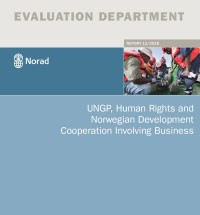 This is the front page of the 2018 evaluation UNGP, Human Rights and Norwegian Development Cooperation Involving Business