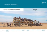 Forside for rapporten Country Evaluation Brief for Niger