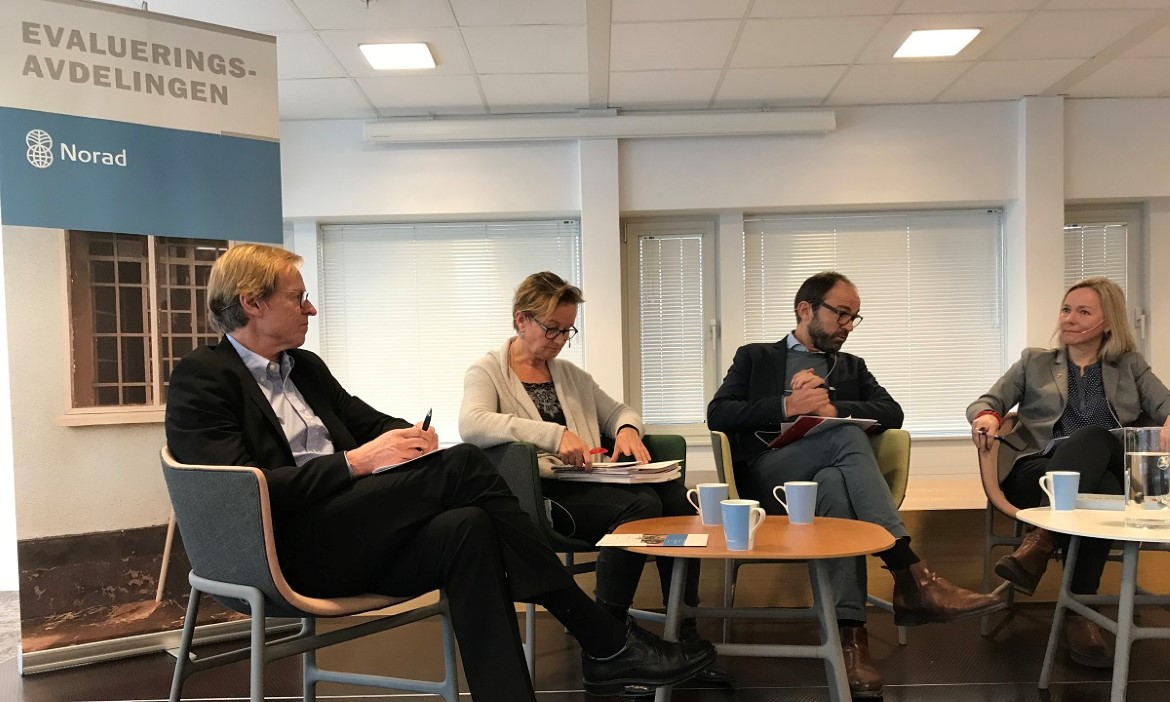 Paneldebatt under Norad Policy Forum januar 2019