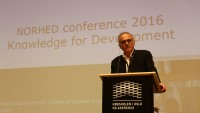 Mahmood Mamdani at the 2016 Norhed Conference on Knowledge for Development