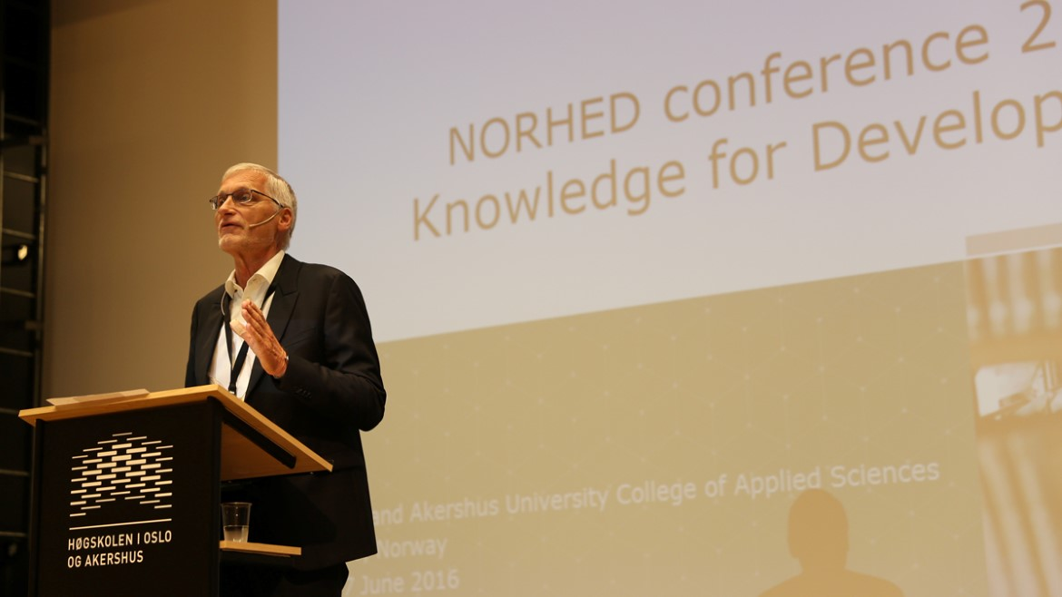John Lomøy at the 2016 Norhed Conference on Knowledge for Development