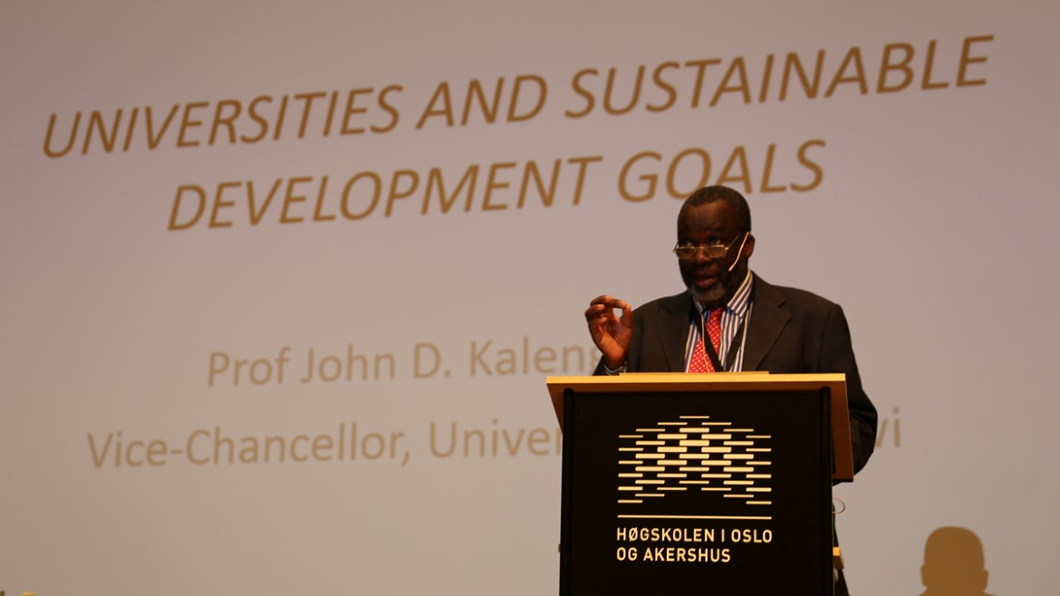 John Saka at the 2016 Norhed Conference on Knowledge for Development