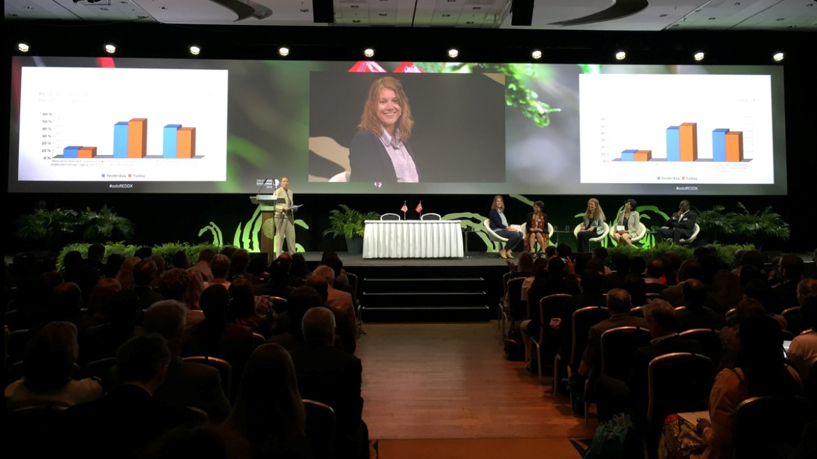 The Oslo Redd Exchange Programme Committee on stage during the second voting