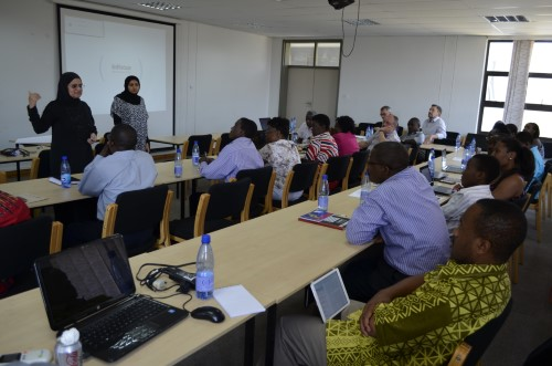 Gender equality is important in all aspects of the project – here at a training session in Malawi